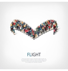 flight people sign 3d vector image