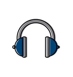 music headphones device vector image