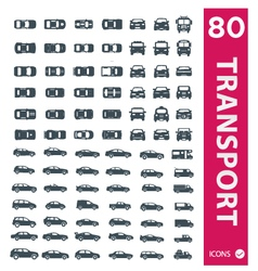 Transportation icons set of 80 icons 2 vector image