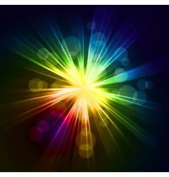 Abstract starburst light background vector image