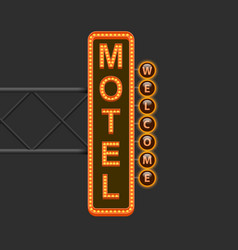 street sign of the motel vector image