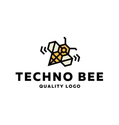 Technical bee vibration dynamics wings a flat vector image