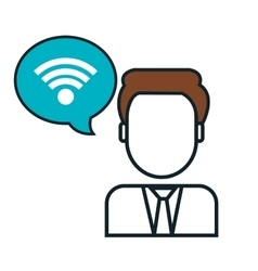 wifi connection sign isolated icon vector image
