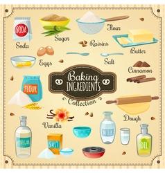 Baking ingredients set vector