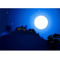 Castle At The Mountain vector image vector image