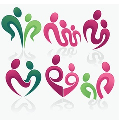 happy family and love concept collection vector image vector image