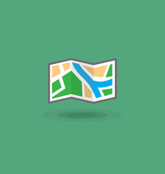 Icon map of area for tourist trip tourist vector