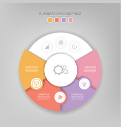 infographic of circle element flat design vector image vector image