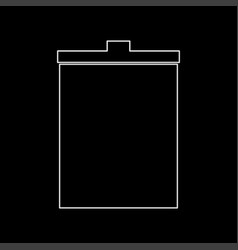trash bucket the white path icon vector image vector image