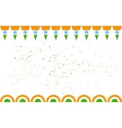 Tricolor India banner for sale and promotion vector image