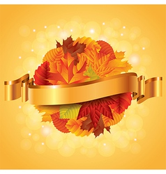 autumn leaves sphere vector image vector image