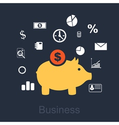 business 2 vector image vector image