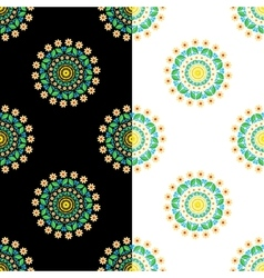 circular seamless floral pattern vector image vector image