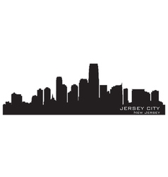 Jersey City New Jersey skyline Detailed silhouette vector image vector image