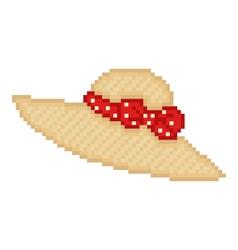 pixel hat vector image