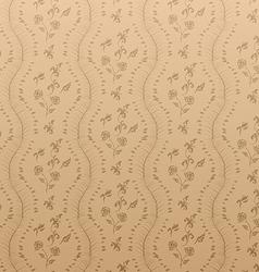 Seamless Floral Damask Wallpaper vector image vector image