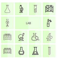 14 lab icons vector