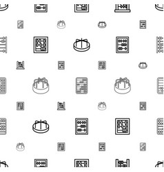 Abacus icons pattern seamless white background vector