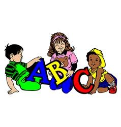 ABC Kids vector image