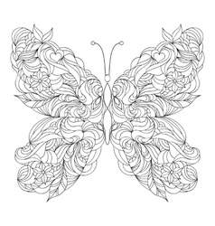 Abstract butterfly on white background vector image