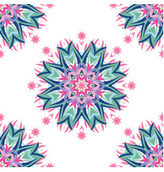 abstract floral pattern with hand drawn mandalas vector image