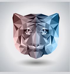 Abstract polygonal tirangle animal tiger hipster vector