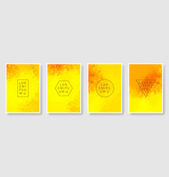 Abstract watercolor texture background poster set vector