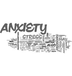 anxiety text word cloud concept vector image