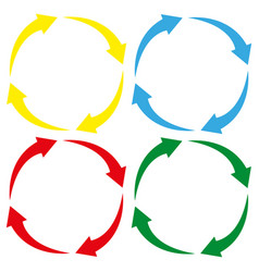 arrow circle icon cycle signs colored vector image