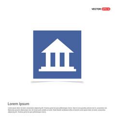 Bank icon - blue photo frame vector