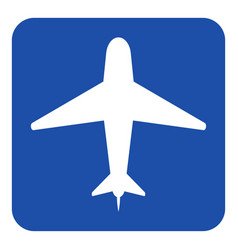 blue white information sign - airliner icon vector image