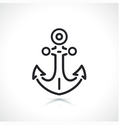 boat anchor thin line icon vector image