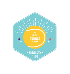 bright tennis design logo icon designprint badge vector image