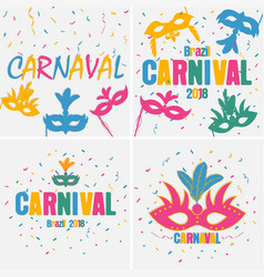 carnaval banner set vector image