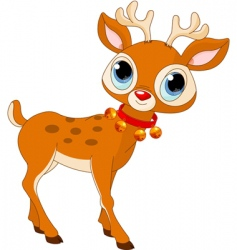 cartoon Rudolf vector image