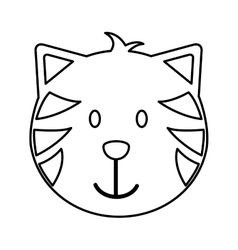 cat head mascot isolated icon vector image vector image