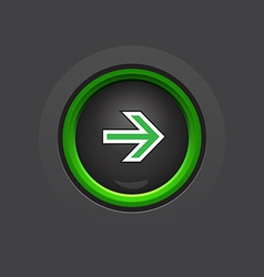 Circle dark glossy arrow button vector