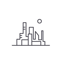 cityscape of the capital line icon concept vector image
