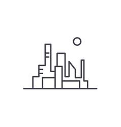 cityscape of the capital line icon concept vector image