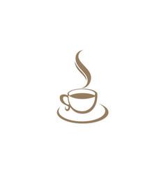 Coffee cup cafe logo vector