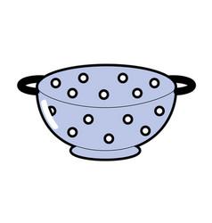 Colander kitchen utensil object to cuisine vector