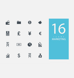 Collection icons in style flat gray color on vector