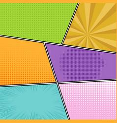Colorful comics template vector