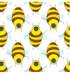 cute cartoon seamless pattern with funny yellow vector image