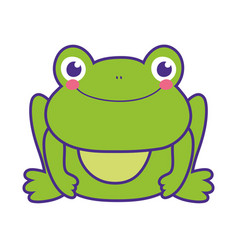 Cute toad character icon vector