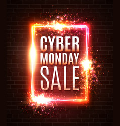 cyber monday sale banner online shopping concept vector image