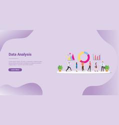 Data analysis or analyze team for website vector