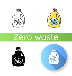 Eco cleaning product icon vector