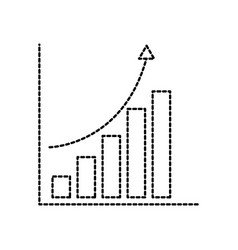 financial graph chart bar arrow growth concept vector image