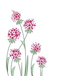 flowers in the garden vector image